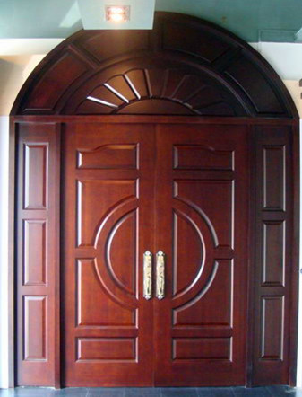 Solid wood entrance door in foshan guangdong gaoya for Solid wood door construction