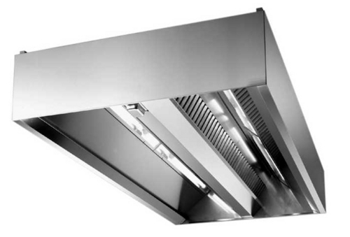 Type 2 Exhaust Hoods ~ Stainless steel island type filter exhaust hood in nanhai