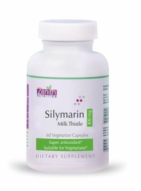 Zenith Nutritions Silymarin Milk Thistle Standardized - 400mg 60 Capsules