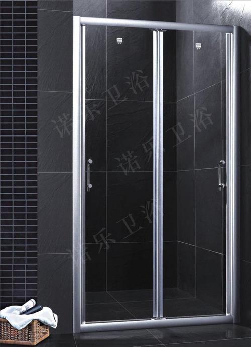 square shape black aluminum frame shower enclosures in
