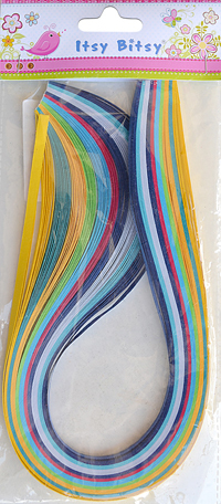 Quilling Strips (10mm Multi-1 100pc Pbhc Ib)
