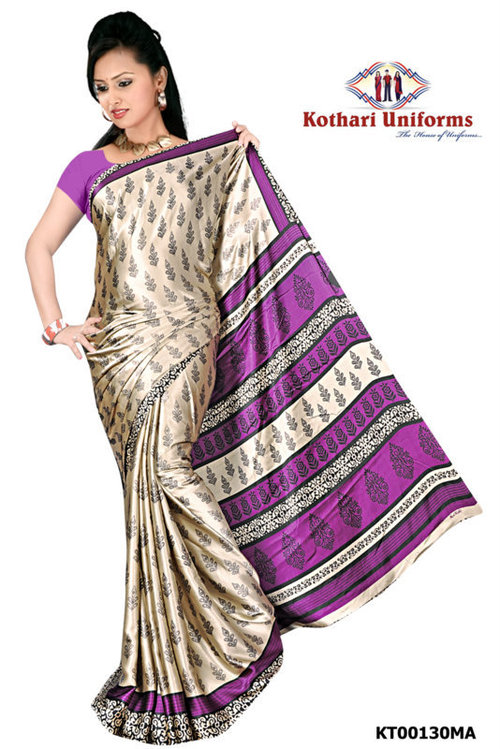 Crepe Uniform Sarees in  Sukrawarpet