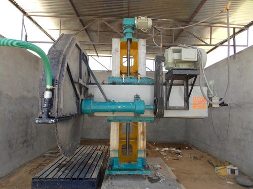 Single Pillar Stone Cutting Machine In Khalsa Petrol Pump