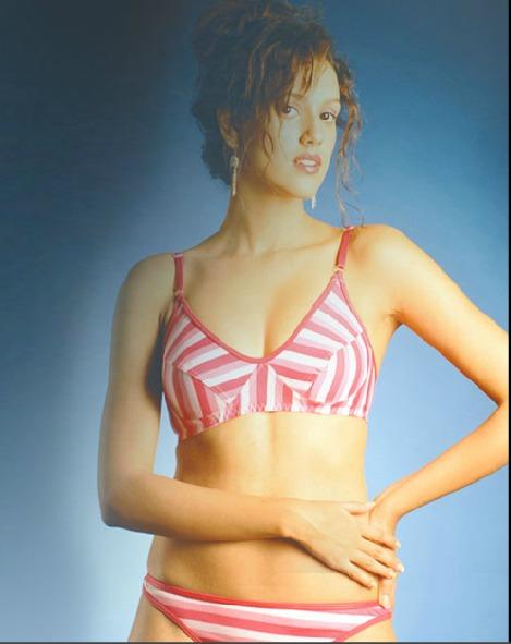 Ladies Printed Bra Panty Set in  Parel