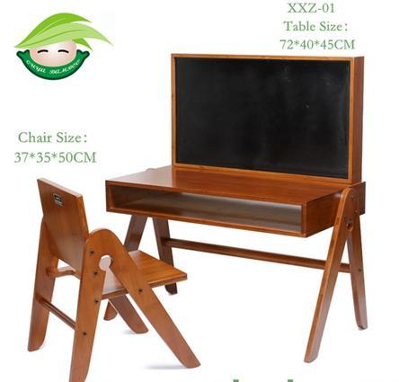 Adjustable And Mulitifunction Bamboo Detachable Kids Study Table And Chair  In Qingyuan