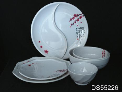 Elegant Design Melamine Hotel Fancy Dinnerware