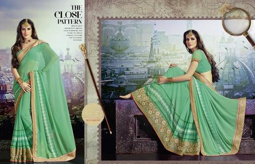plain wedding  saree
