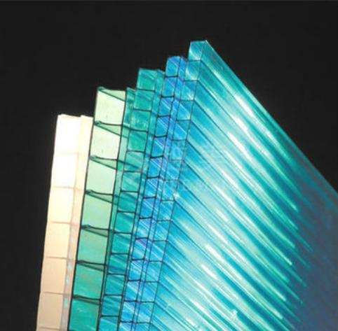 Transparent Polycarbonate Hollow Roofing Sheet In Baiyun