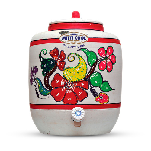 Earthen Water Pot (With Painting 20 Liters)