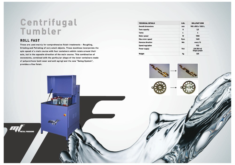 Centrifugal Barrel Mass Finishing Machine