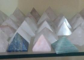 Crystal Pyramids in  Basvangudi