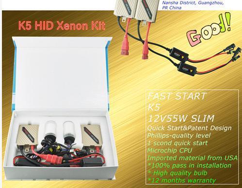 2*55W Fast Start Ballast+ 2*55W HID Xenon Bulb