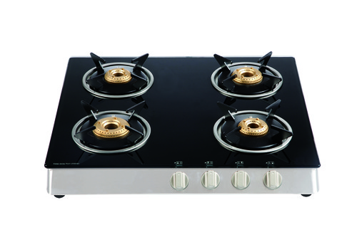 CT SS 402 Auto Ignition  4 Burner Black Glass Cook TOP