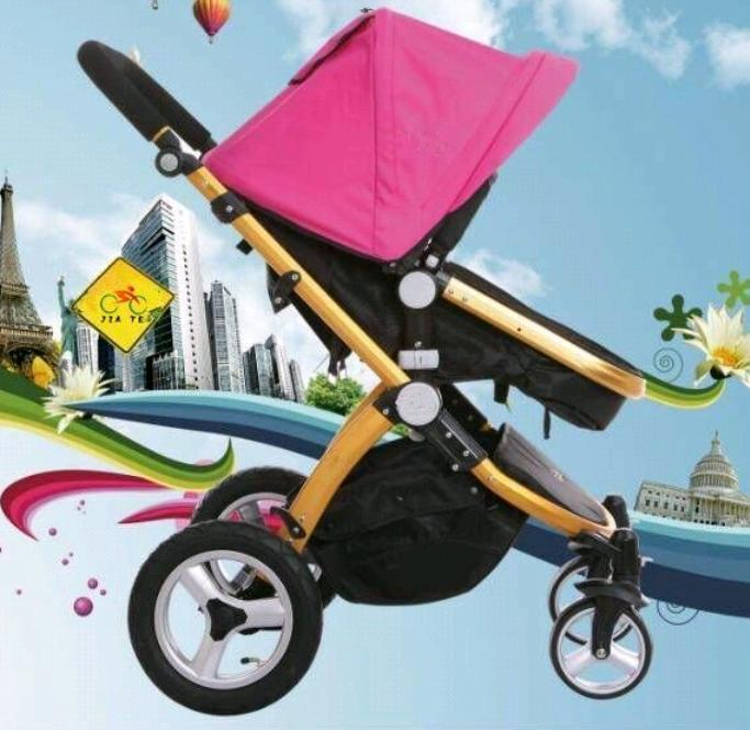 4 Wheels Baby Stroller With Under Bag