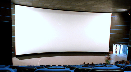 Auditorium Curved Projection Screen