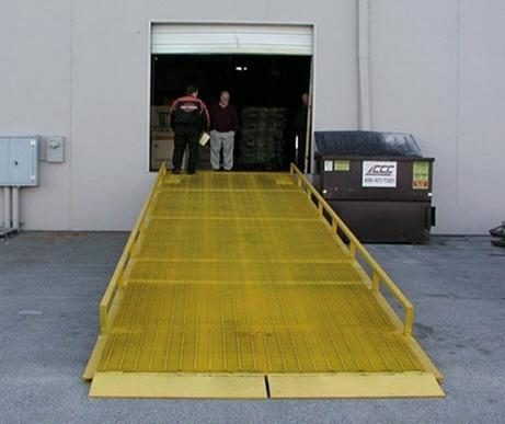 Used Container Steel Loading Dock Ramp