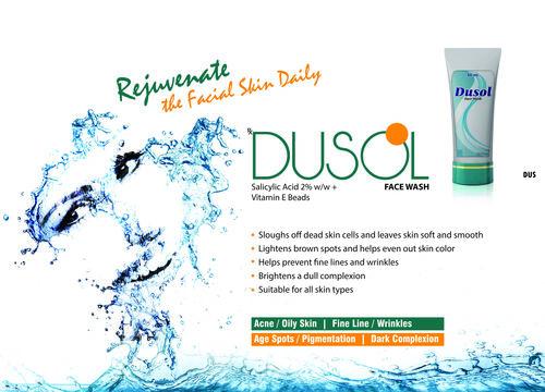 Dusol Facewash D.M Water,Sodium Laurel Ether Sulphate,Acrypol,Coco Amido Propyl Betaine, Olive Oil Peg-7 Esters, Salicylic Acid, Coco Diethanolmide,Vi