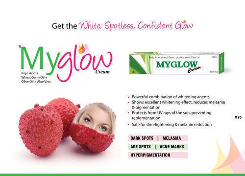 Myglow ( Kojic Acid, Wheat Germ Oil, Aloevera,Olive Oil Cream) in   Delhi Road