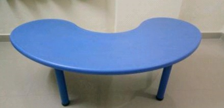 Blue Color Bean Shaped Table