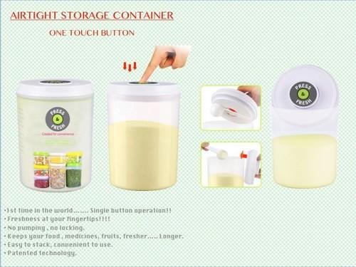One Button Operation Vacuum Lock Multi Purpose Storage Container