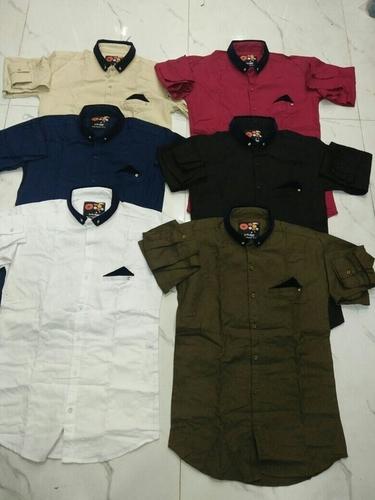 Designer Satin Casual Shirt in  Wadala