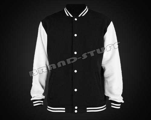 Black Cotton Fleece Body White Cotton Jackets
