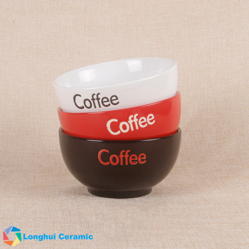 Custom Glossy Vibrant Color Ceramic Coffee Bowl