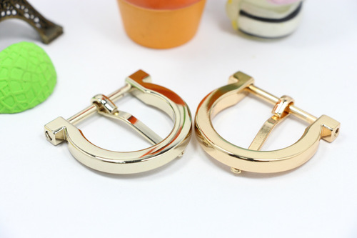 Semi-Circle Iron Genuine Leather Belts Buckles For Belts