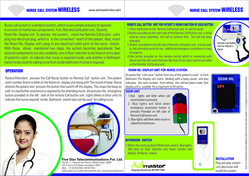 Wireless Best Simple Electronic Nurse Call And Emergency System