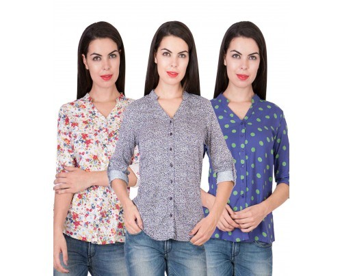 Women'S Multicolored Printed Shirts