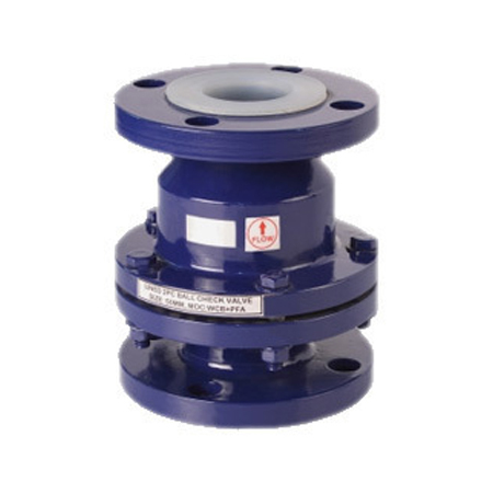 Ptfe Lined Ball Check Valves