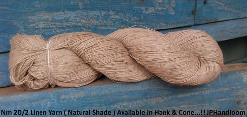 20/2 Linen Natural Yarn On Hank
