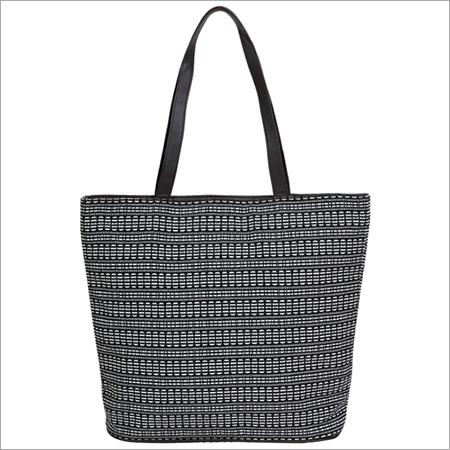 Off White Black Shopper Bags