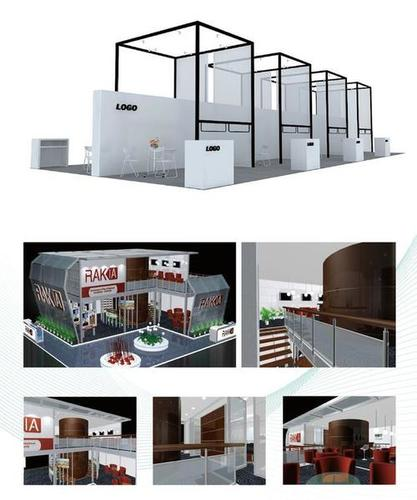 Exhibition Booth Accessories : Exhibition commercial business space exhibit designer