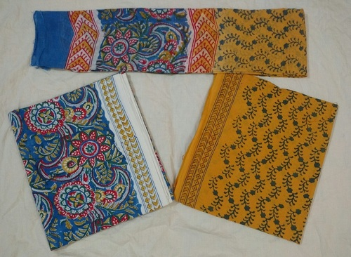 Hand Block Printed Cotton Unstitched Salwar Kameez in  Jagatpura