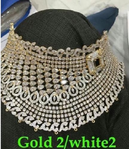 American Diamond Choker Set in  Sheikh Memon St.-Zaveri Bazar