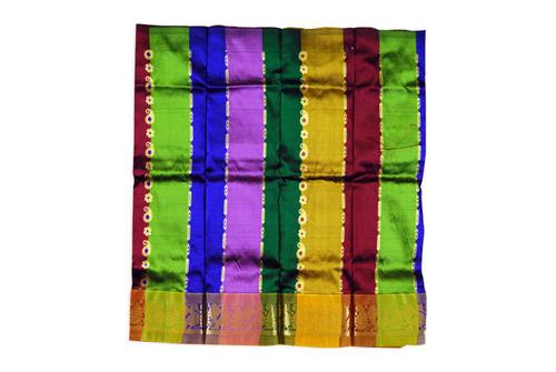 Silk Pavadai Multicolour Saree in  New Area