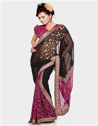 Half Georgetta Saree