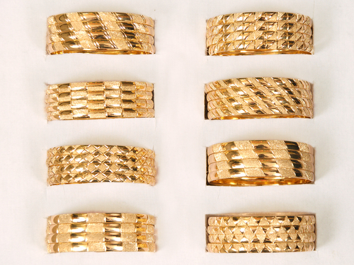 Gold Plated Bangles in   Opp. jalaram khaman