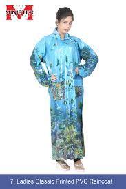 Ladies Classic Printed PVC Raincoat