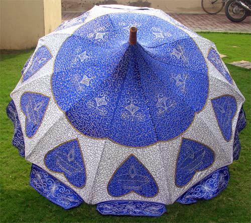 Garden Umbrella With Embroidery in  Munirka