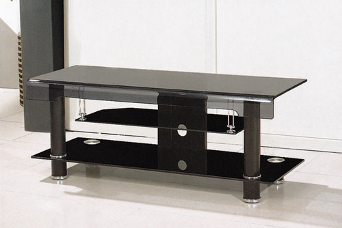 popular black glass lcd tv stand in shunde town foshan baiqiao furniture factory. Black Bedroom Furniture Sets. Home Design Ideas