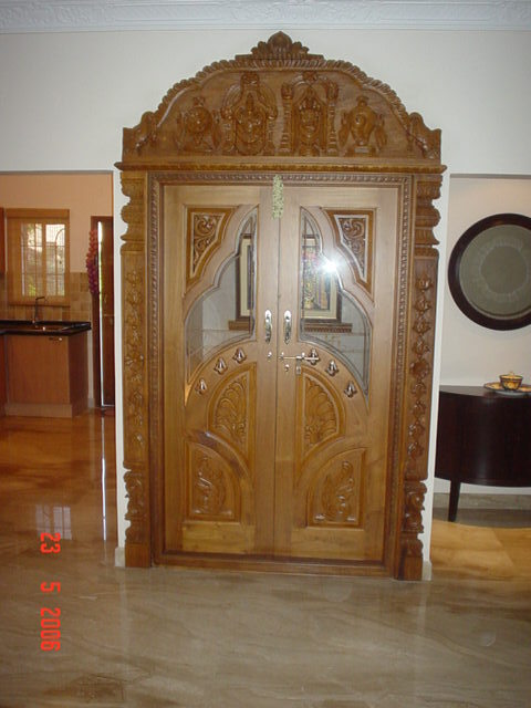 Pooja room doors in mahadevapura whitefield bengaluru for Room door design for home