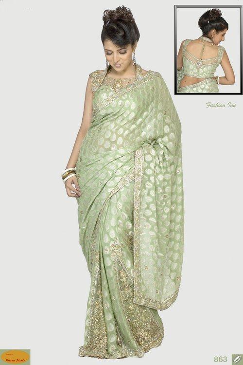 Hand Embroidered Saree Choli
