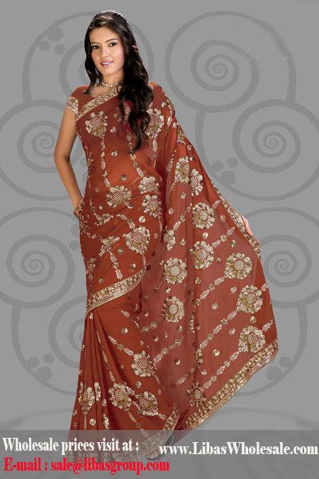 Simar Georgette Saree in  Lajpat Nagar - Iv