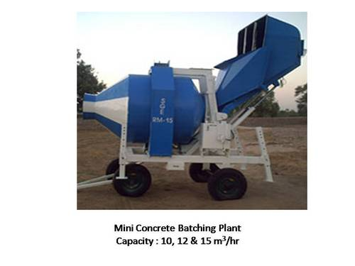 Mini Concrete Batch Plant : Mini mobile concrete batching mixing plant in maninagar