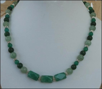 Semiprecious Stone Jewellery With Silver Findings