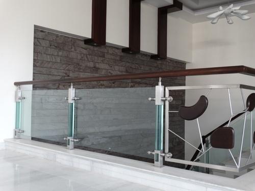 Modern Stainless Steel Glass Railing in Gopalpura Road, Jaipur   RAJ TECHNO FAB ENGINEERS PVT. LTD.