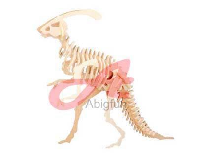 Wooden Puzzle Little Parasaurolophus Dinosaur