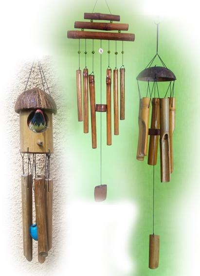 Bamboo Wind Chimes in   Sane Guruji Vasahat